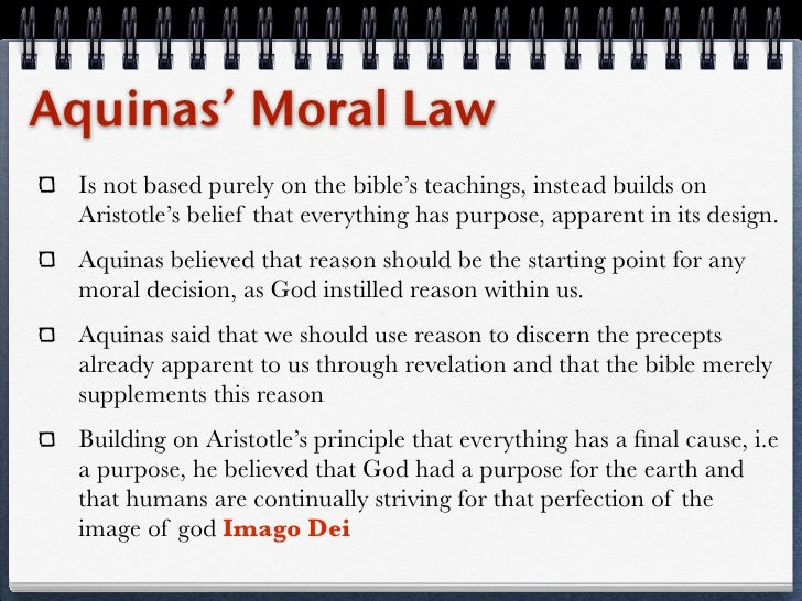 What are the important features of natural moral law?