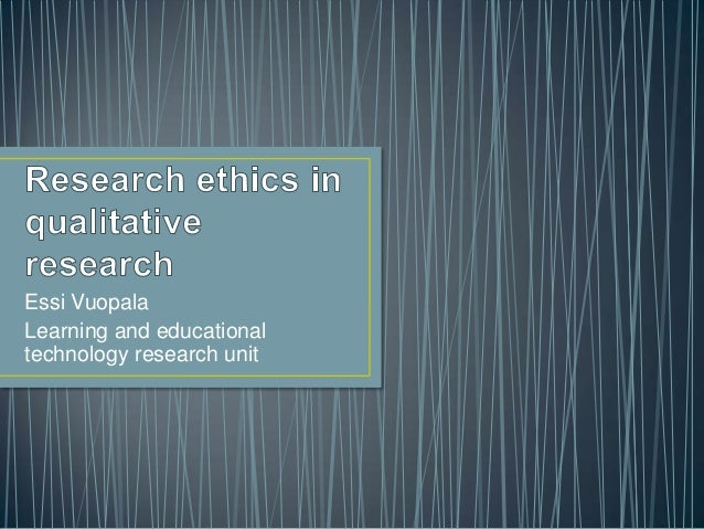 Essi Vuopala Learning and educational technology research unit