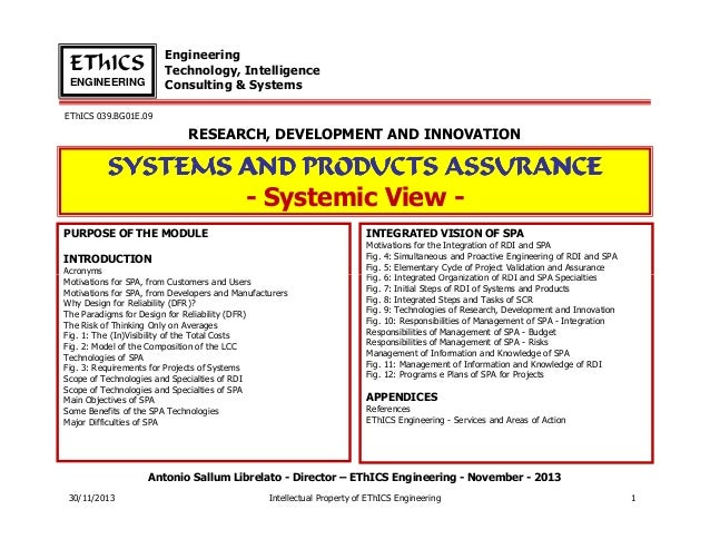 Engineering Technology, Intelligence Consulting & Systems  EThICS ENGINEERING EThICS 039.BG01E.09  RESEARCH, DEVELOPMENT A...