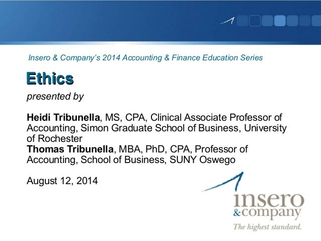 Doctoral thesis on accounting ethics