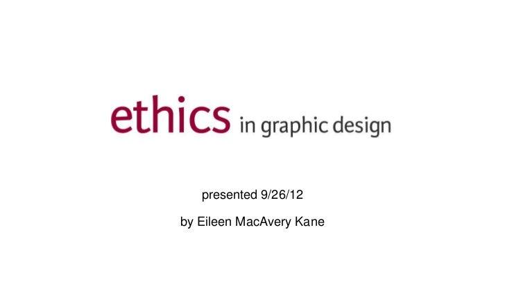 Ethics in Graphic Design