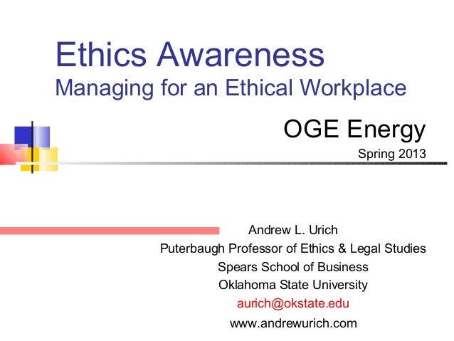 Ethics Awareness OGE Enogex