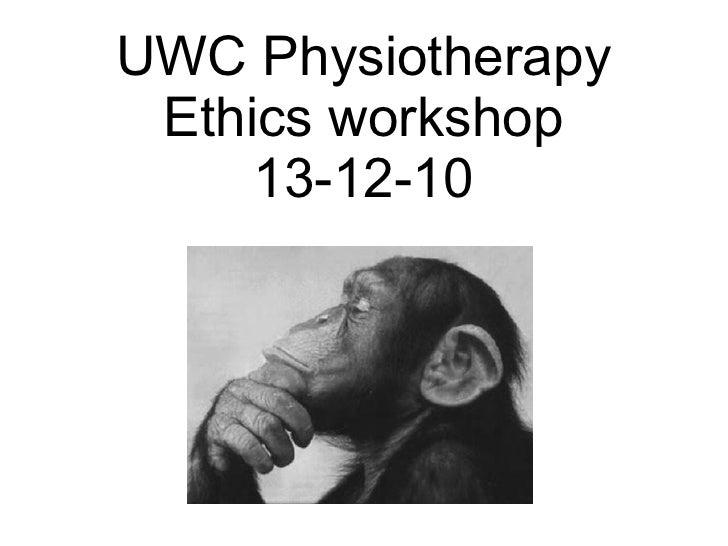 Ethics CPD workshop