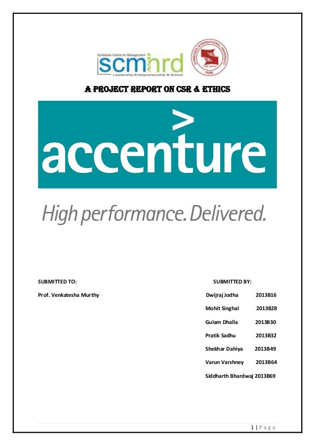 Ethics and csr at accenture