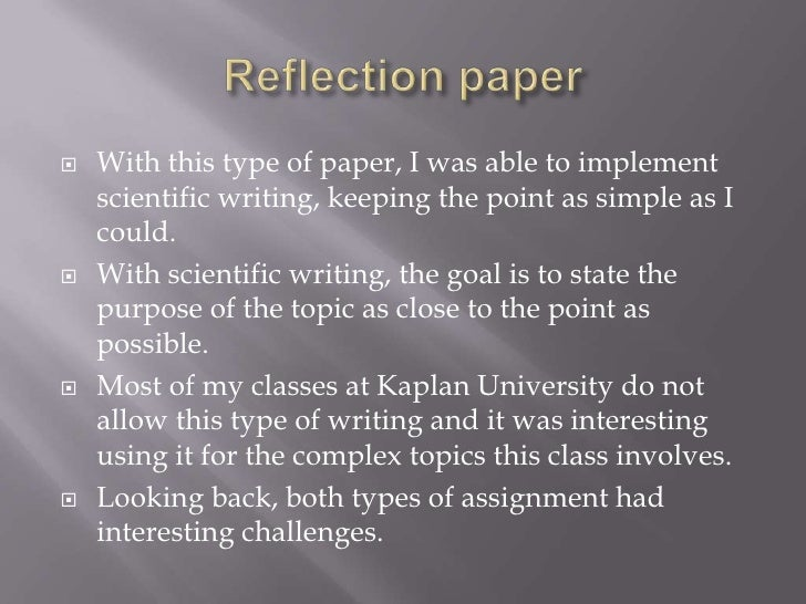 Write a reflection essay