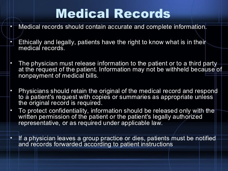 legal and ethical considerations of an electronic medical record Record-keeping controversies: ethical, legal,  an updated account of the ethical and legal considerations of record  electronic medical record use and .