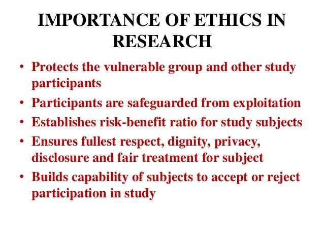 the importance of ethics essay
