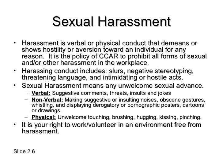 issue sexual harassment trolling free