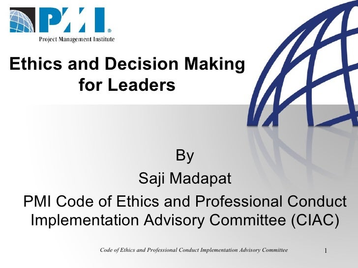 Ethics and Decision Making for Leaders