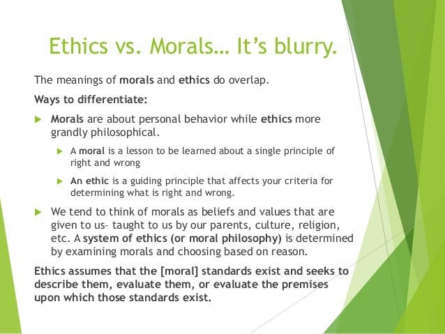 The Definition of Morality