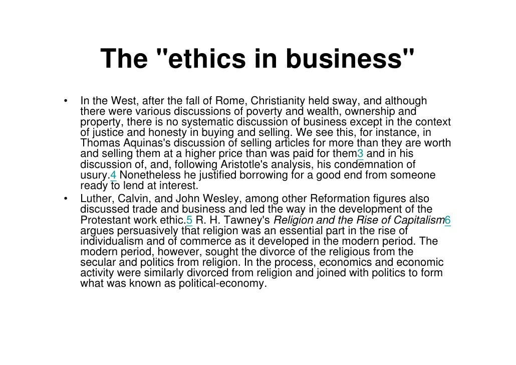 "are ethics and business compatible Decisions,"" signaling that business and ethics are not compatible4 in a similar way, environmental considerations are frequently viewed as barriers to profitability."