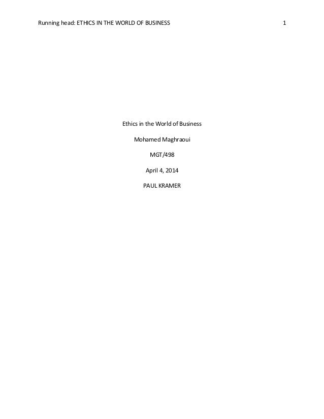 Essay On Business Code Of Ethics