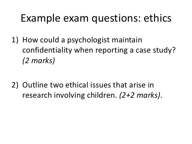 ethics question answer ethics