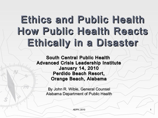 ADPH, 2010ADPH, 2010 11 South Central Public HealthSouth Central Public Health Advanced Crisis Leadership InstituteAdvance...