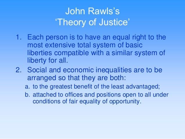 john rawls theory of justice summary pdf
