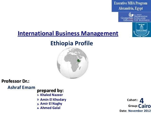 Ethiopia business profile