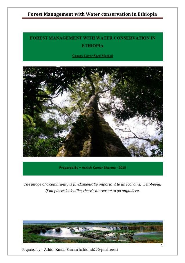 Ethiopia forest & water management ashish ku sharma
