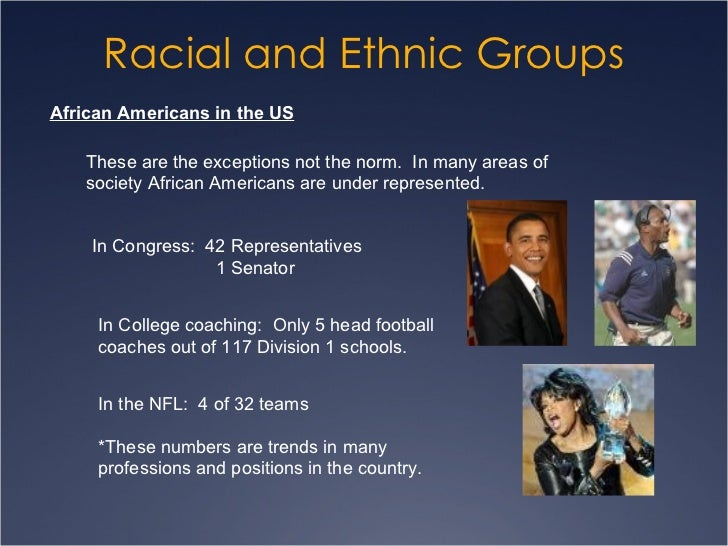 racial and ethnic groups For one semester/one quarter sociology and general education courses in race and ethnic relations richard schaefer grew up in chicago in the 1960's, at a time when neighborhoods were going through transitions in ethnic and racial composition.