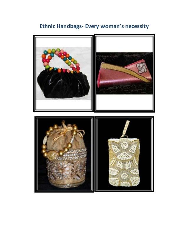 Ethnic Handbags- Every woman's necessity