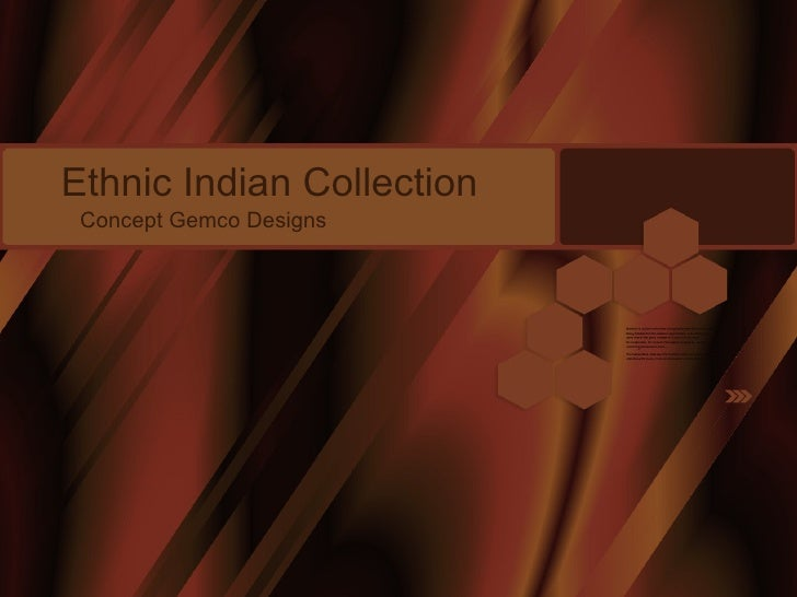 Ethnic Indian Collection Concept Gemco Designs