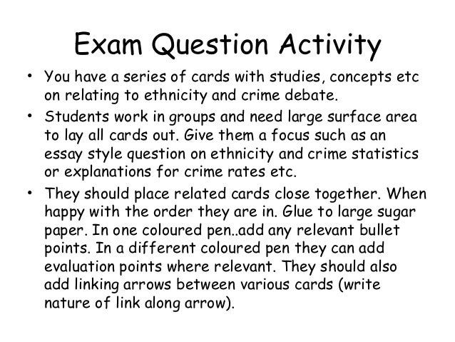 essay style exam questions View sample questions and directions students will encounter on test day illustrating key changes to the new sat® suite of assessments reading tests.