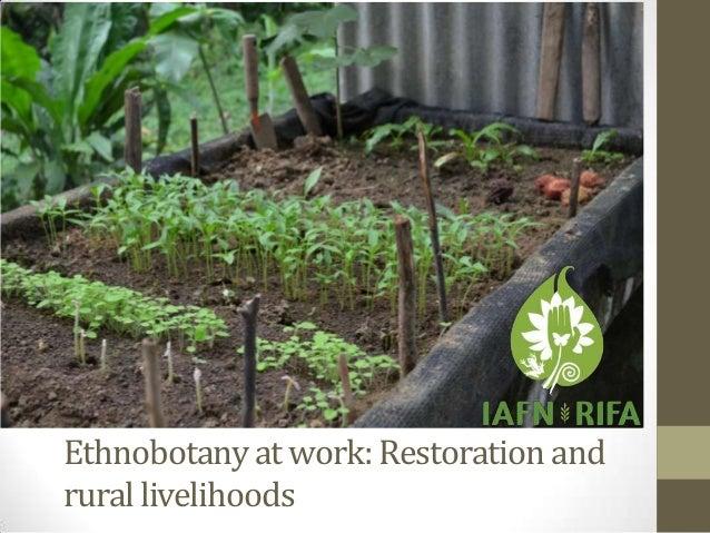 Ethnobotany at work: Restoration and rural livelihoods