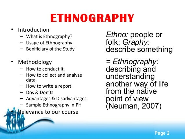 how to write an ethnographic observation paper Another common type of research and writing activity in anthropology is the ethnographic assignment how should i approach anthropology papers writing an essay in anthropology is very similar to writing an a fact or observation becomes evidence when it is clearly connected to an.