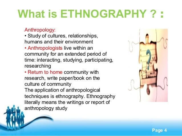 essay drawing on ethnographic studies on