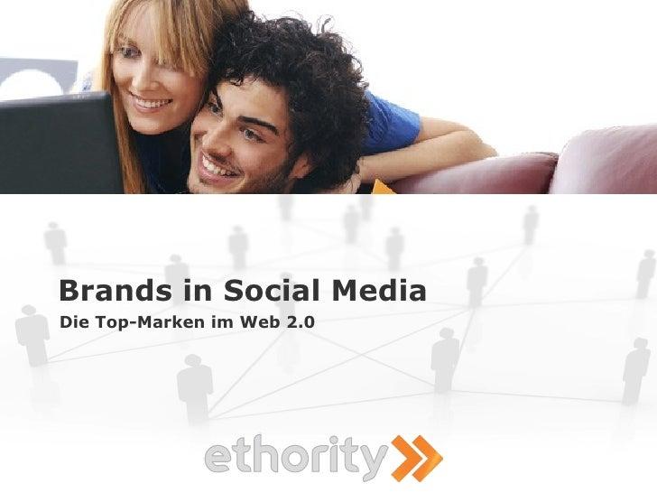 Brands in Social Media Die Top-Marken im Web 2.0