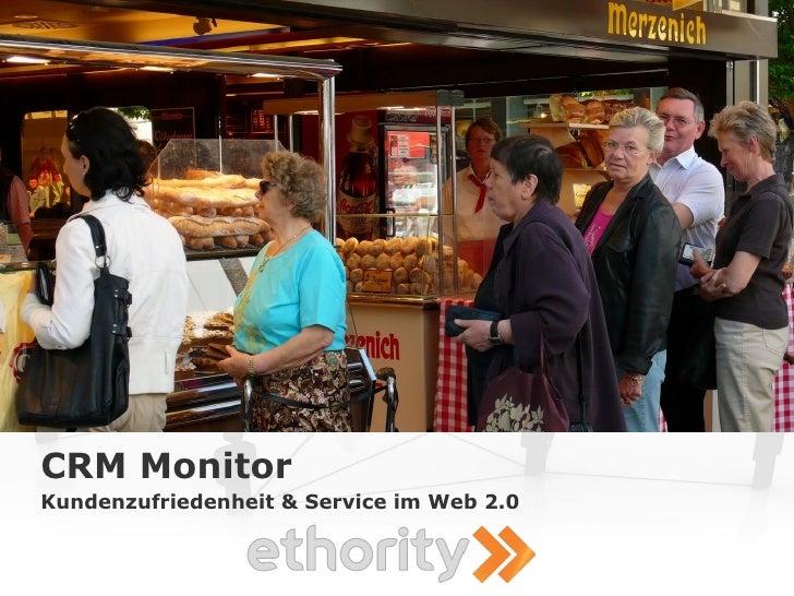 CRM Monitor Kundenzufriedenheit & Service im Web 2.0