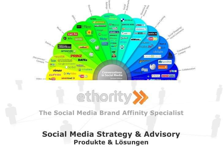 ethority - Social Media Strategy Advisory Products