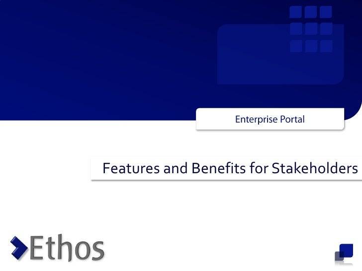 Ethos Enterprise Portal Prodoct Features Rev1