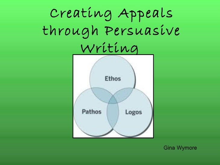 Creating Appeals through Persuasive Writing   Gina Wymore