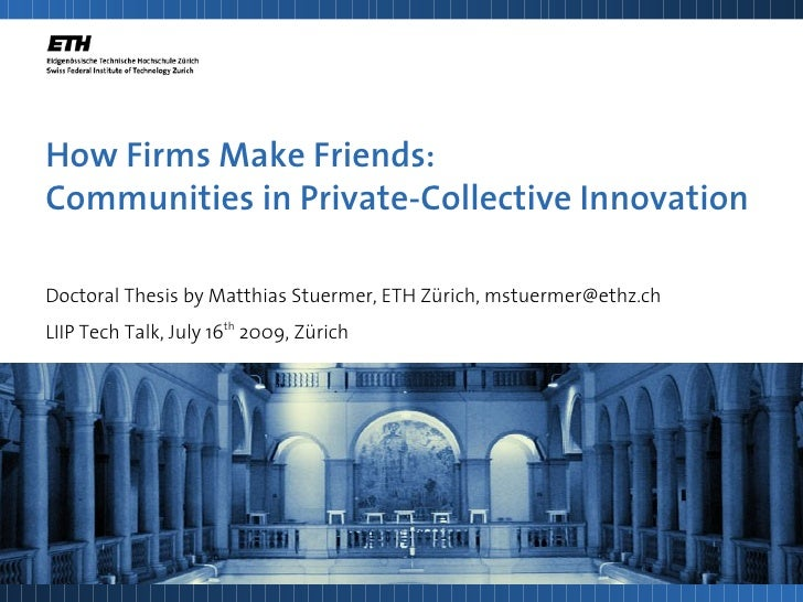 How Firms Make Friends: Communities in Private-Collective Innovation