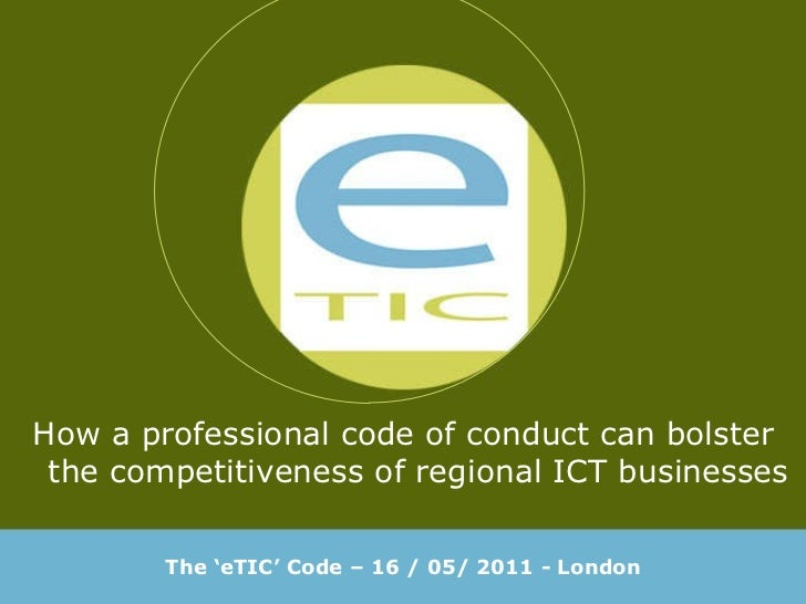 eTIC code of conduct - english presentation