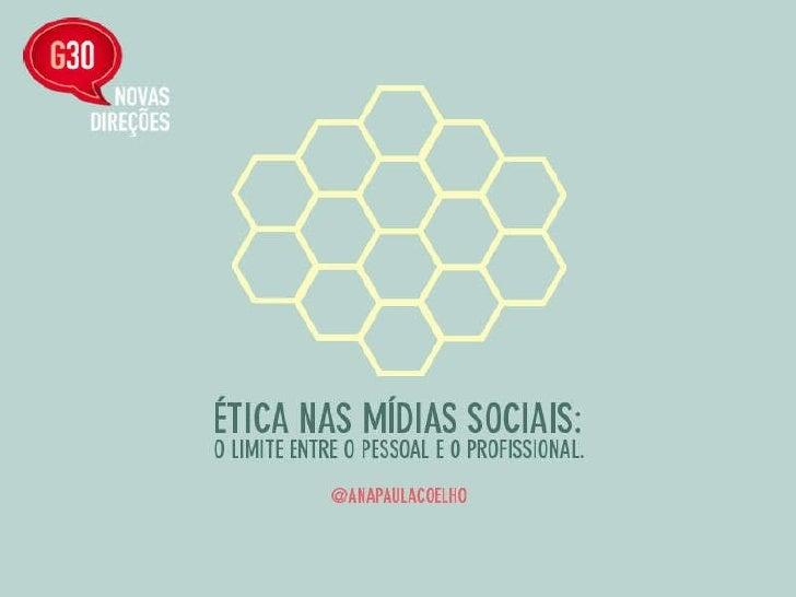 Etica nas Mídias Sociais