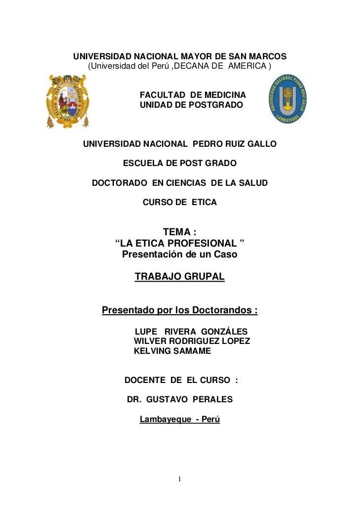 UNIVERSIDAD NACIONAL MAYOR DE SAN MARCOS   (Universidad del Perú ,DECANA DE AMERICA )             FACULTAD DE MEDICINA    ...