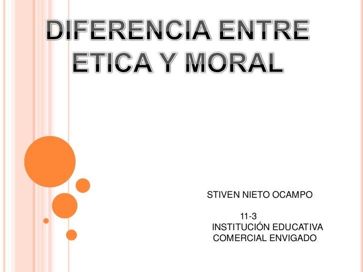 Diferencia entre etica y moral for Diferencia entre yeso y escayola