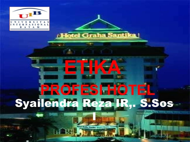 Etika profesi hotel