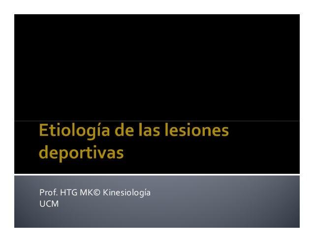 Prof. HTG MK© Kinesiología UCM