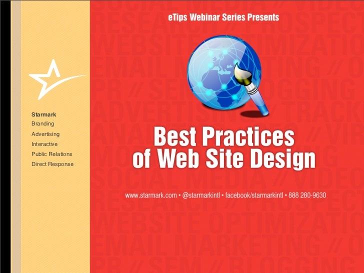 Best Practices of Web Site Design