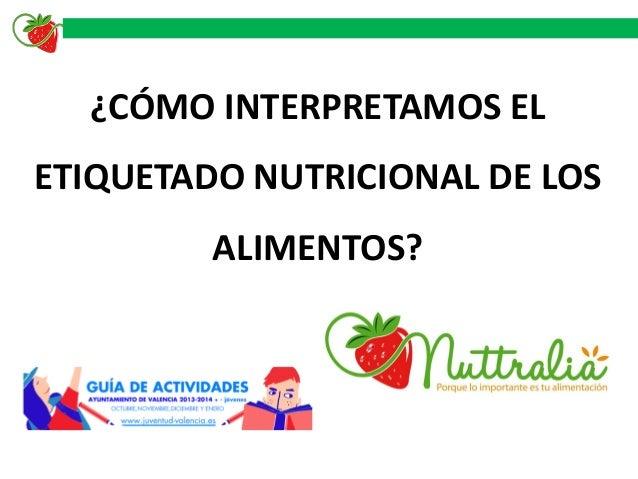 ¿CÓMO INTERPRETAMOS EL ETIQUETADO NUTRICIONAL DE LOS  ALIMENTOS?