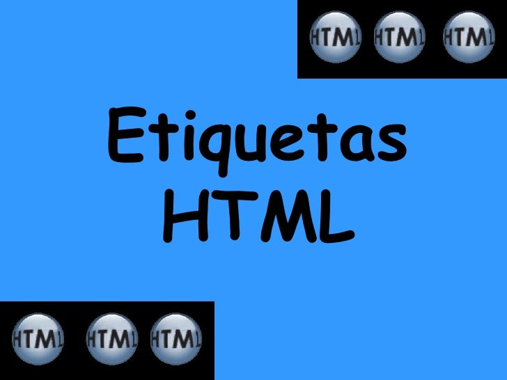 Etiquetas HTML