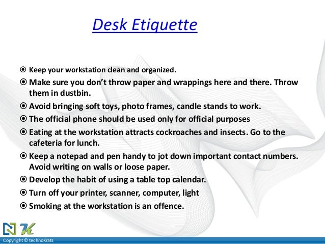 Etiquette By Vicky Mallick Amp Yogeshwar Rao
