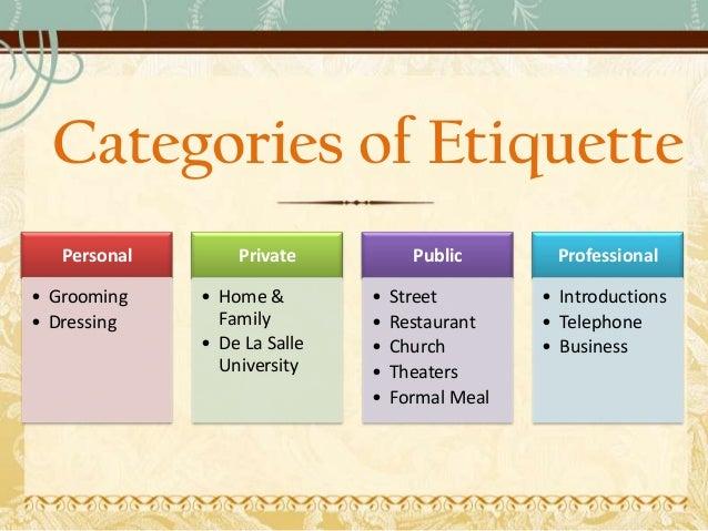 Four Components Of Etiquette