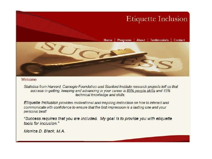 Etiquette Inclusion Website