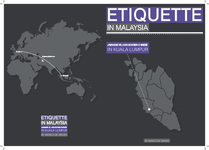 ETIQUETTE                                              IN MALAYSIA                                              JAVANESE V...