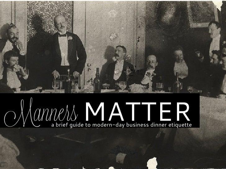 Matters Manner