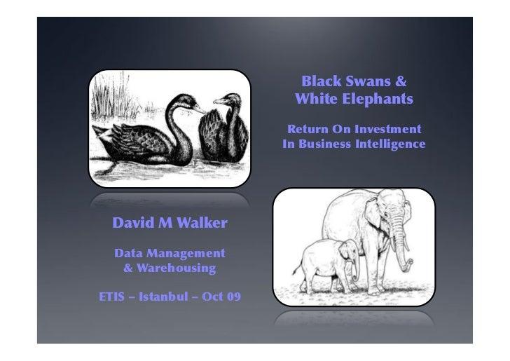 Black Swans &                             White Elephants                            Return On Investment                 ...