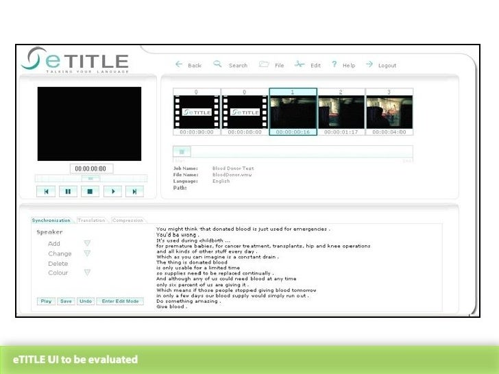 eTITLE UI to be evaluated